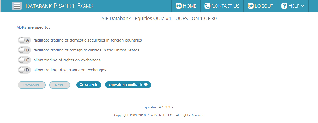 SIE Databank Question