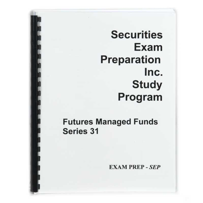 Series 31 - Futures Managed Funds